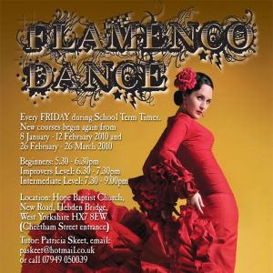 Hebden Bridge Flamenco Class Poster