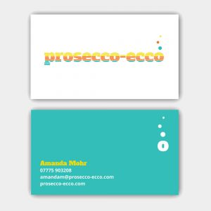 Prosecco-Ecco Business Cards
