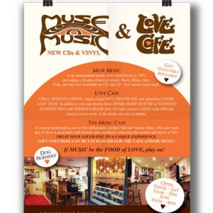 Muse Music & Love Café Poster and Voucher