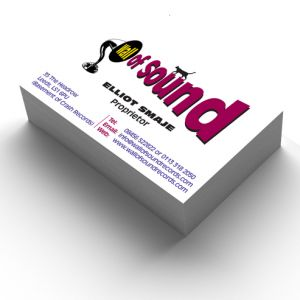 Wall of Sound Business Stationery & Logo
